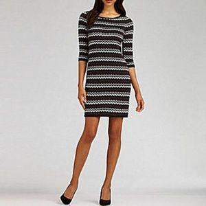 Calvin Klein Zig Zag Chevron Printer Sweater Dress